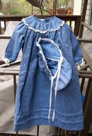 AMISH OR PRAIRIE DOLL DRESS WITH HAT