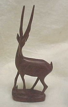 Wooden Antelope and Baby