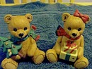 PAIR OF CHRISTMAS BEARS - PRICE REDUCED -