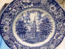 LIBERTY BLUE INDEPENDANCE HALL PLATE