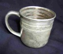 HOMAN MFG. CO. SILVER/NICKEL CHILDS CUP