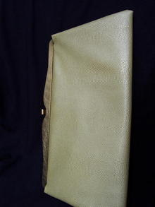 CLUTCH BAG WITH SNAKE SKIN LOOK