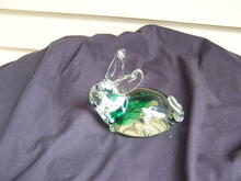 GLASS RABBIT PAPERWEIGHT WITH TINT