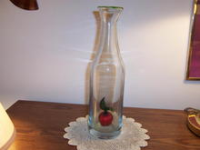 BOTTLE WITH DECORATIVE APPLE INSIDE * PRICE REDUCED *
