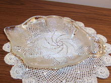 CANDY DISH WITH BEAD DESIGN * PRICE REDUCED *