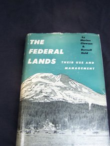 THE FEDERAL LANDS BY CLAWSON AND HELD - SIGNED AND INSCRIBED