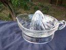HAZEL ATLAS GLASS REAMER CRISS CROSS PATTERN - PRICE REDUCED -