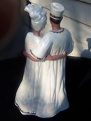 ELEGANT AFRICAN COUPLE FIGURINE LOTS OF LUSTRE - PRICE REDUCED -