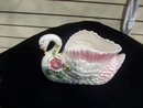 LARGE COLORFUL SWAN PLANTER - PRICE REDUCED -