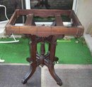 EASTLAKE MARBLE AND WOOD END OR LAMP TABLE  - REDUCED AGAIN -