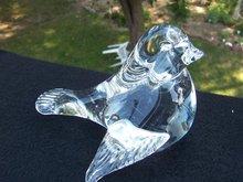 GLASS BIRD PAPER WEIGHT