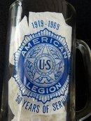 AMERICAN LEGION  ANNIVERSARY MUG  AND BELT BUCKLE - PRICE REDUCED -