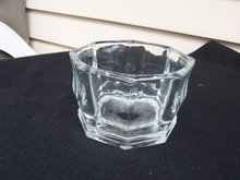 OCTAGON SHAPED CLEAR GLASS BOWL
