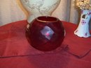 RUBY OR CRANBERRY VASE OR VOTIVE CANDLE HOLDER - PRICE REDUCED -