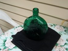 EMPIRE GLASS GENERAL TAYLOR AND FATHER OF OUR COUNTRY GREEN BOTTLE