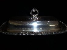 F. B. ROGERS TWO PIECE  BUTTER DISH