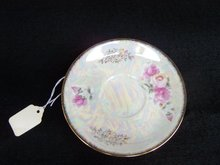 LUSTER FLORAL SAUCER WITH GOLD AND #10178
