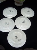SET OF FIVE EDWIN M. KNOWLES SMALL PLATES