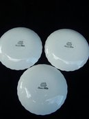 THREE  J. & G. MEAKIN CLASSIC WHITE SAUCERS