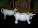 PAIR OF BULL AND HORSE PLANTERS