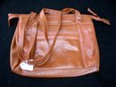 BROWN LEATHER OR LEATHER LOOK  SHOULDERBAG OR POCKETBOOK