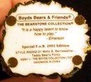 BOYDS BEARSTONE COLLECTION TEDDY BEAR'S PICNIC