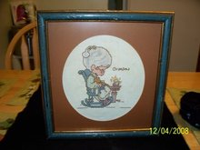 NEEDLEPOINT PICTURE OF GRANDMA