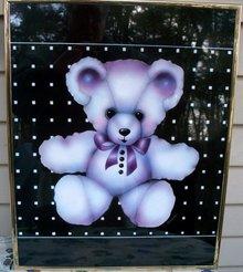 FRAMED BEAR PRINT FOR CHILDS ROOM  - GORHAM