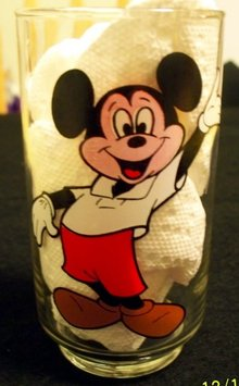 MICKEY MOUSE CLUB DRINKING GLASS