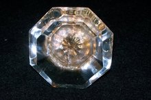 EIGHT SIDED GLASS DOOR KNOB OR HANDLE