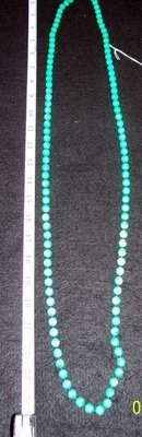 TURQUOISE/GREEN  BEAD NECKLACE