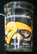 WELCH'S TYRANNOSAURUS REX COLLECTOR GLASS