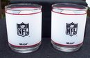 PAIR OF REDSKINS FROSTED GLASSES MADE FOR MOBIL OIL