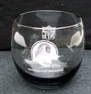 REDSKIN  LOGO SMOKED DRINKING GLASS