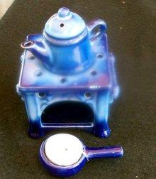 MINIATURE TEA CANDLE STOVE WITH TEA POT