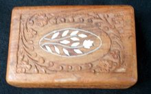 WOOD CARVED DRESSER BOX
