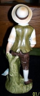 LEFTON 6988 BOY WITH GOOSE FIGURINE