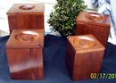 HELLERWARE SET OF FOUR WOOD CANISTERS