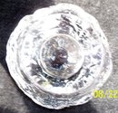 HEAVY GLASS PAPERWEIGHT OR PEN AND PENCIL HOLDER  - PRICE REDUCED -