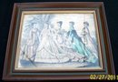 FRAMED GODEY WITH HAND TINTING - FREE SHIPPING FOR USA