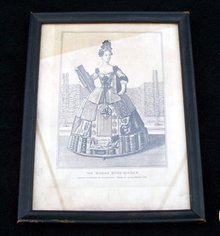 COPPER ENGRAVING OF ALLEGORICAL FIGURE OF THE WOMAN BOOK-BINDER  - PRICE REDUCED -