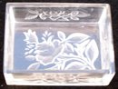 LEAF DESIGNED  GLASS PIN OR DRESSER BOX