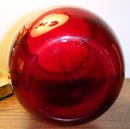 LARGE RUBY RED GLASS  VASE