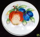 FRUIT DESIGNED PORCELAIN CANDY  DISH - NEW LOWER PRICE