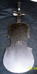 VIOLIN WALL DECORATION - METAL AND WOOD