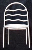 MINIATURE METAL CHAIR (ICE CREAM STYLE)