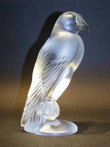FRENCH SEVRES CRYSTAL FALCON
