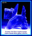4 CZECH COBALT BLUE SCOTTIE NAPKIN HOLDER #71