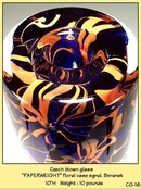 CZECH DESIGNER STUDIO GLASS PAPERWEIGHT VASE