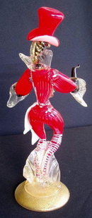 50's VENETIAN GLASS BLACKAMOORE DANCER F. TOFFOLO